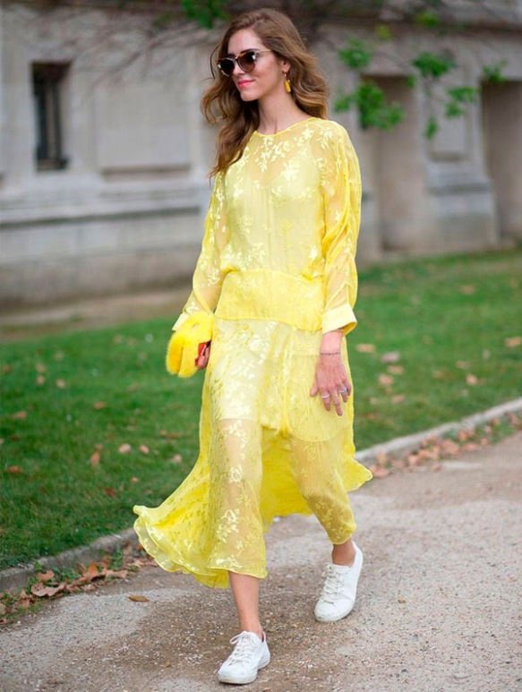 chiara-ferragni-street-style-yellow-dress